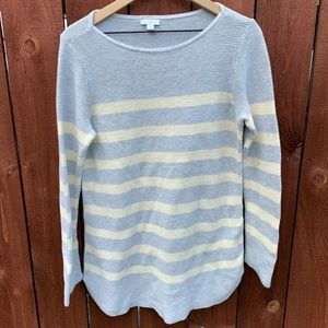 J. Jill Striped Tunic Sweater